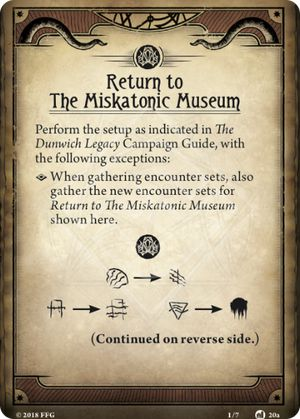 Return to The Miskatonic Museum